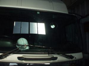 トラック・ウィンドガラスリペア(フロントガラス修理)